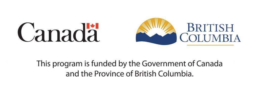 Government of Canada and BC logos: This program is funded by the Government of Canada and the Province of British Columbia